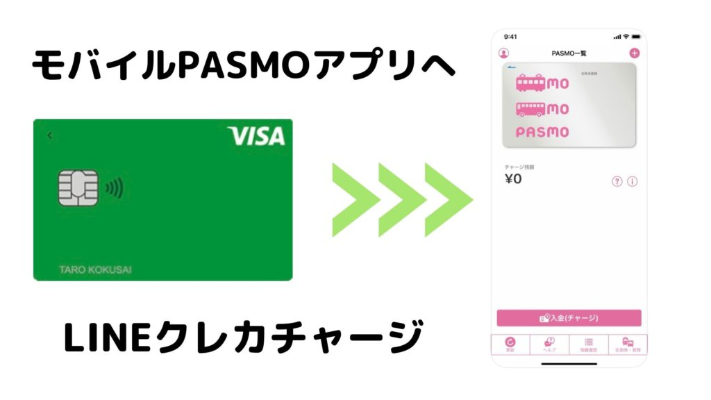 LINEクレカ→モバイルPASMO