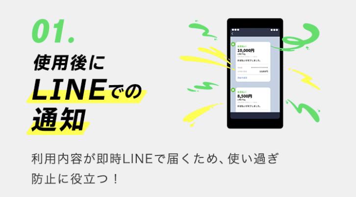 Visa LINE Payカード 通知