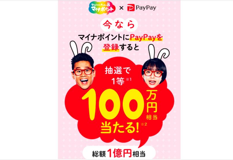 PayPayのマイナポイントのキャンペーン