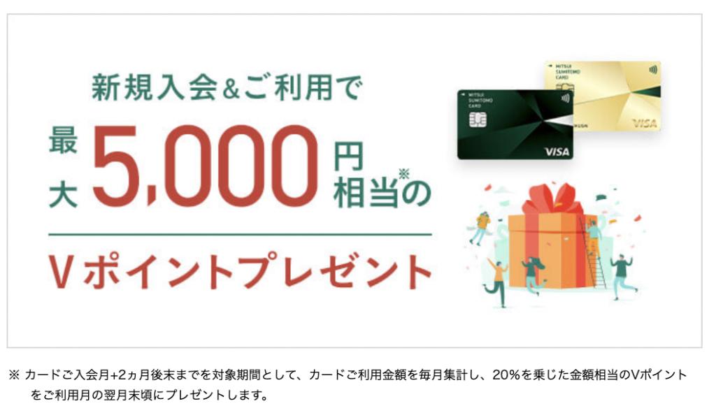 三井住友カードNLの入会キャンペーン(2021年5月〜)