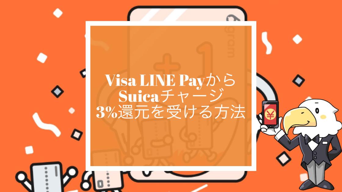 Visa LINE Payカードから6gram経由でSuicaチャージのアイコン