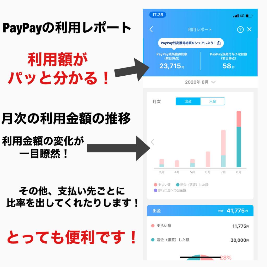 PayPayの利用レポート