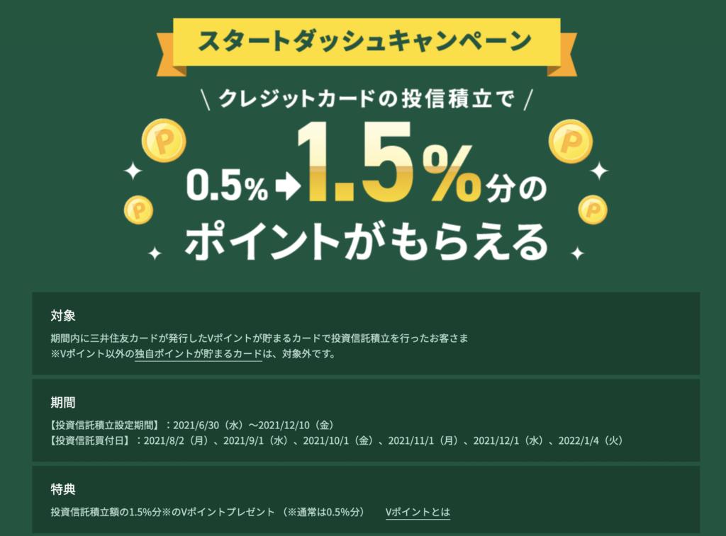 三井住友カード×SBI証券のスタートダッシュキャンペーン