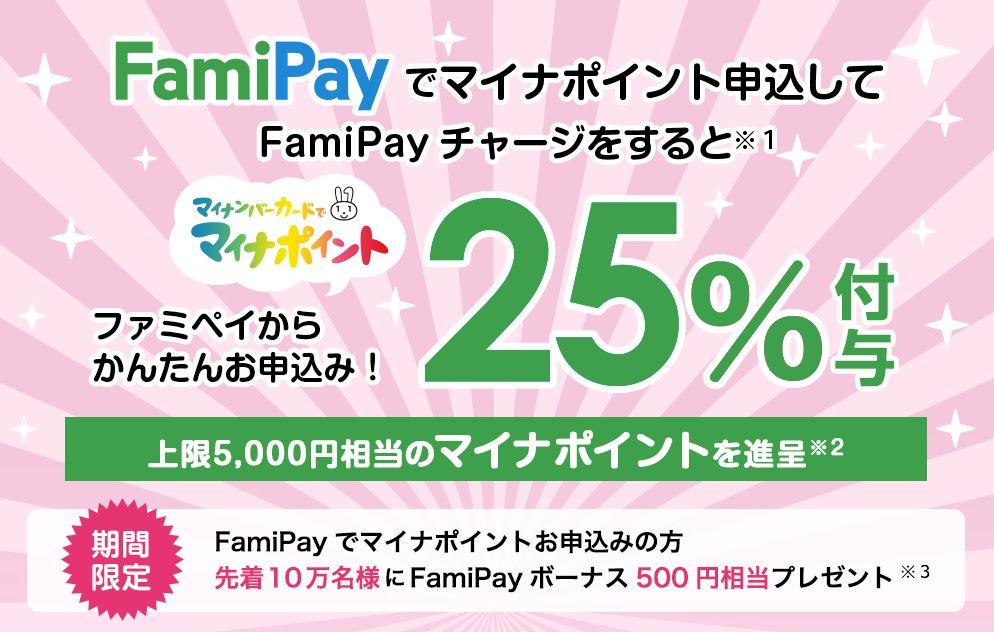 Fami Payのマイナポイントのキャンペーン