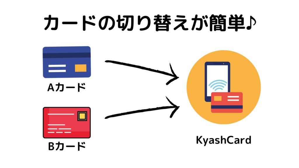 Kyashならカード切り替えが簡単