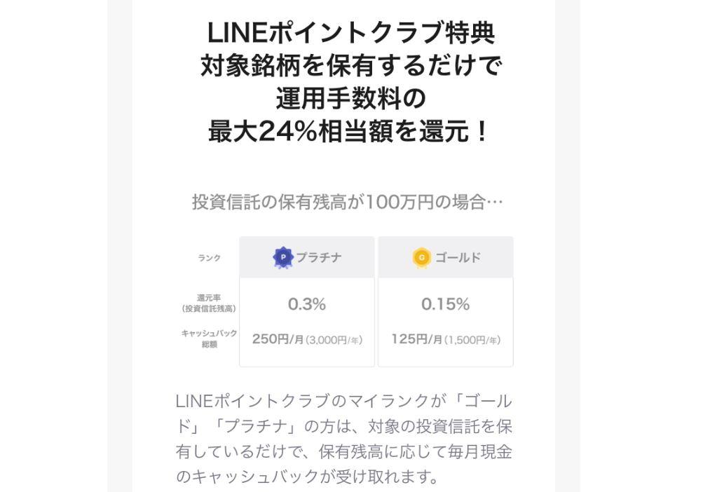 LINE証券のLINEポイントクラブの特典