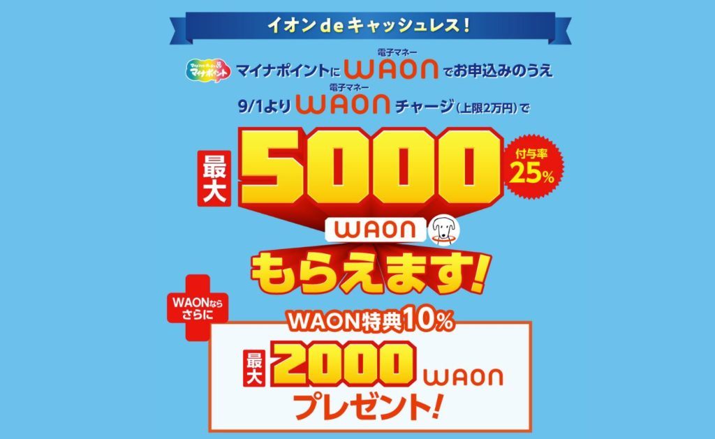 WAONのマイナポイントのキャンペーン